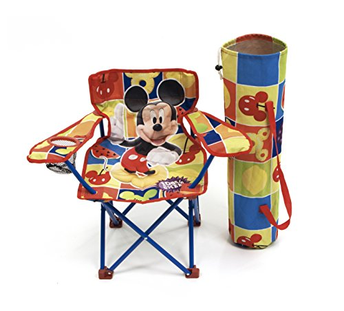 Mickey Mouse WD7867 Chaise Pliable avec Bras/Housse Motif Mickey
