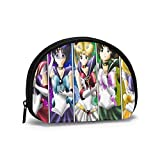Anime Shell Storage Bag Mujeres y niñas Cute Fashion Zip Monedero Monedero Bolso Cambiador Bolsa Multifunción Organizador de Bolso