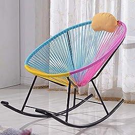 Chaise de Salle à Manger Fauteuil inclinable/à bascule/en osier/en rotin/mobilier personnalisé (Couleur : 3 colors)