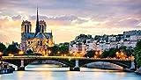 100/300/500/1000 piezas juego de rompecabezas juguetes para niños adultos,puesta de sol, París, Notre Dame de París juguetes educativos reconocimiento de forma