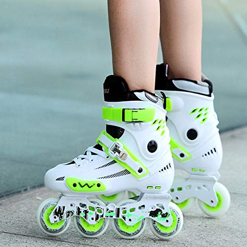 YSCYLY Patines En LíNea Infantiles Ajustables,Patines de Ruedas en línea para Adultos Zapatos Planos Elegantes,para NiñOs Adolescentes Y Adultos