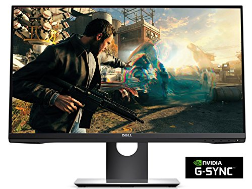Dell S2417DG 23.8-inch LED Widescreen Anti-Glare Monitor - Black (1ms Response Time, QHD 2560x1440, DP, HDMI, USB, G-Sync)