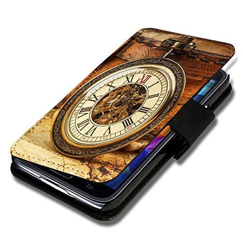 Book Style Flip Handy Tasche Hülle Schutz Hülle Schale Motiv Etui für Wiko Rainbow Up - Flip A52 Design6