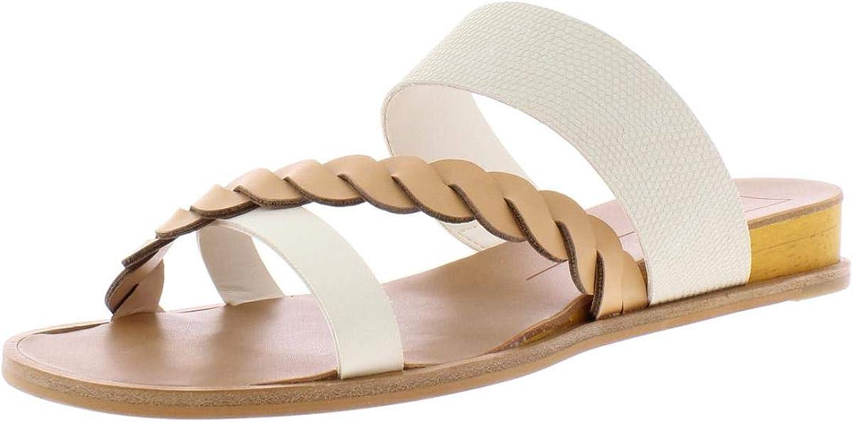 Dolce Vita Womens Penelope Slip On Casual Slide Sandals Brown 9.5 Medium (B,M)