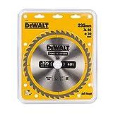 DeWalt DT1955-QZ DT1955-QZ-Hoja para Sierra Circular portátil para construcción 235x30mm 40D ATB +10º, 0 W, 0 V, 235/30 mm 40WZ