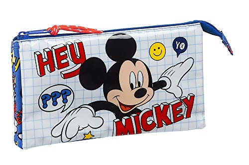 Safta Estuche Escolar de Mickey Clubhouse, Multicolor (Mickey Mouse Things)