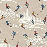 Hans-Textil-Shop Stoff Meterware Wintersport - 1 Meter,