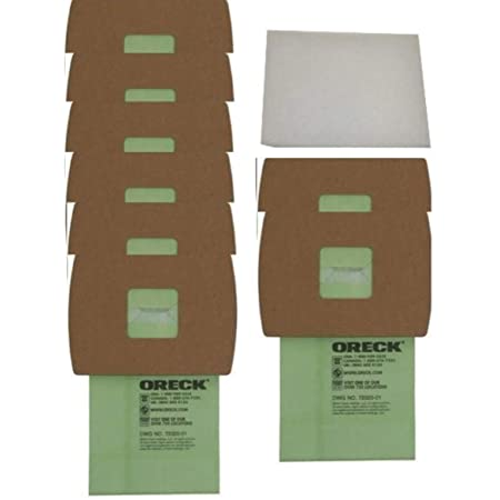 Oreck AK1CC6A CC SaniSeal Allergen Filtration Vacuum Cleaner Bags 6 Pack Genuine