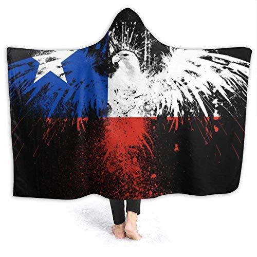 """Manta con Capucha, Bandera de Chile, con Capucha, Abrigo, Capa, suéter, Joven, Duradero, sofá, Cama, Chal, Franela, con Mangas, 60 """"x50"""