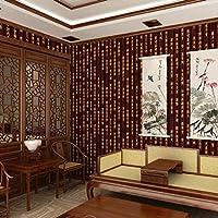 壁紙、レストランティーハウスPVC防水壁装クラシック書道竹スリップ壁紙 (Color : 3)