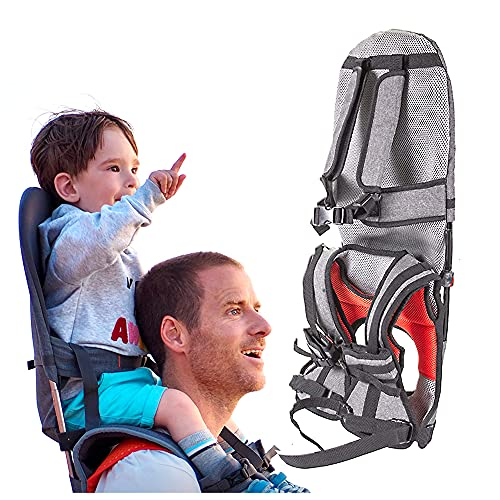 Child Shoulder Carrier Baby Toddler Hiking Backpack Ankle Straps Hands-Free Foldable Shoulder Saddle Holds a 44.1lb Toddler for Ergonomic Seat Suitable for Kids Baby 1-5 Years Old