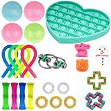 Fidget Toys Set, Fidget Marble Toy, Sensory Relieves Stress Anxiety Squeeze Toy for Kids Teens Adults Autism (Random styles and colors)