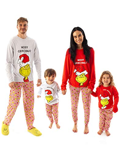 The Grinch Christmas Pyjamas Family Passende PJ-Sets für Männer, Frauen & Kinder