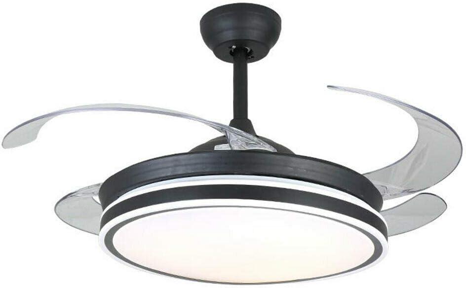 Lámpara de techo con mando a distancia de 42 pulgadas, regulable, velocidad del viento, plegable, ventilador de techo con luz moderna para comedor, dormitorio, salón