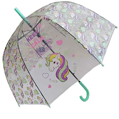 Paraguas Transparente, Paraguas de Unicornio, Paraguas para niños, niñas. Paraguas de Moda