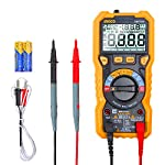 INGCO Digital Multimeter TRMS 6000 Counts with Double Fuse for Anti-Burn, Measures AC/DC Voltage, AC/DC Current, Resistance, Capacitance, Frequency, Diode Test, Continuity Test, Temperature DM7504