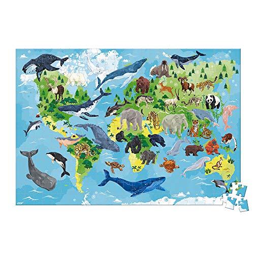 Janod  Puzzle Infantil 350 Piezas Especies prioritarias Juego Educativo Asociación WWF Cartón Certificado FSC A Partir de los 7 años ( J08633)