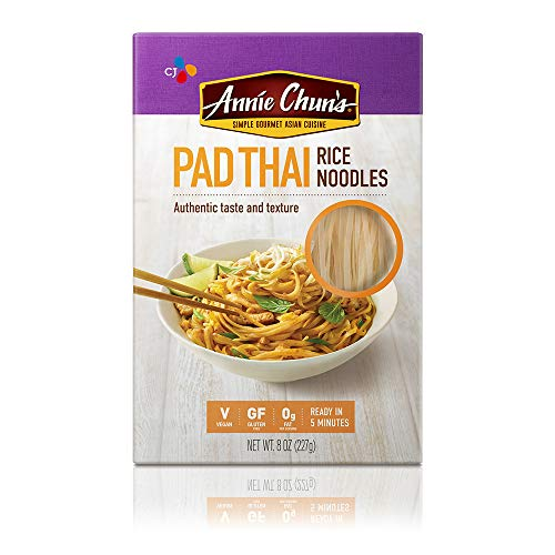 Annie Chun#039s Rice Noodles Pad Thai | Vegan 8oz Pack of 6 | GlutenFree Alternative to Linguine Pasta