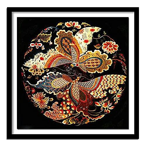 5D diy Diamante pintura flores y animales cristal rhinestone bordado cuadros hogar decoración de la pared arte artesanía diamante redondo 40x40cm