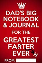 Dad's Big Notebook & Journal: Funny Personalized Note Book Gift for Dad