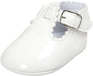 1e1cb5d6 Fossen Zapatos Bebe Antideslizante Suela Blanda Primeros Pasos para Recién  Nacido Niña Niño