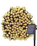 Kolpop Luces Exterior, Guirnalda Luces Exterior Solar, LED Solar Jardin 24 Metros 240 LED Blanco Cálido, 8 Modos de Luz, Decoración para Navidad, Fiestas, Bodas, Patio, Dormitorio Jardines, Festivales