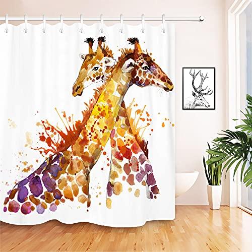 JOOCAR Duschvorhang mit 12 Haken, wasserdicht, Polyester, 183 x 183 cm