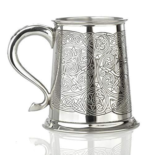 Eburya Celtic Spirals - Keltischer 1 Pint Bierkrug/Zinnkrug aus England