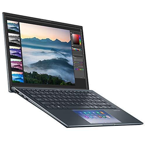 ASUS ZenBook 14 UX435EG Full HD 14' Touchscreen Laptop (Intel i7-1165G7, Nvidia MX450 Graphics Card, 16GB RAM, 512GB SSD, 32GB Intel Optane Memory, Windows 10) Includes ScreenPad 2.0