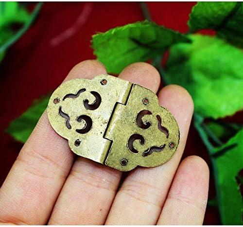 Cabinet Hinges 40Pcs Super-cheap 27x43mm Wholesale Flower Sale price Hollow Hinge Brass