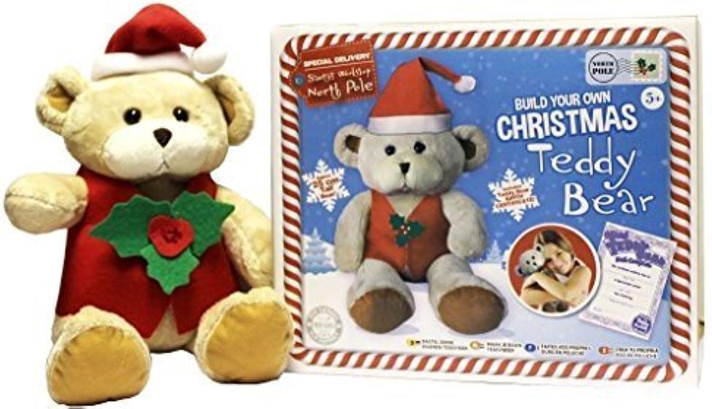 Baue Eine Weihnachten Bär Mache Deine Eigene Weihnachtsmann Teddy Kinder Nähen Satz B01MA3DF2T | Reparieren