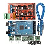 Homyl 3DプリンターRAMPS 1.4コントローラー+ MEGA2560 R3 +ヒートシンクキット付きA4988