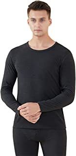 Men's Thermal Underwear Set, Ultra Soft Comfortable Elastic Spring And Autumn Round Neck Long Johns Set, Body Sculpting, B...