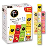 4C Powder Drink Mix | Singles Stix, On the Go | Refreshing Water Flavorings | 24 count (Iced Tea - Variety)