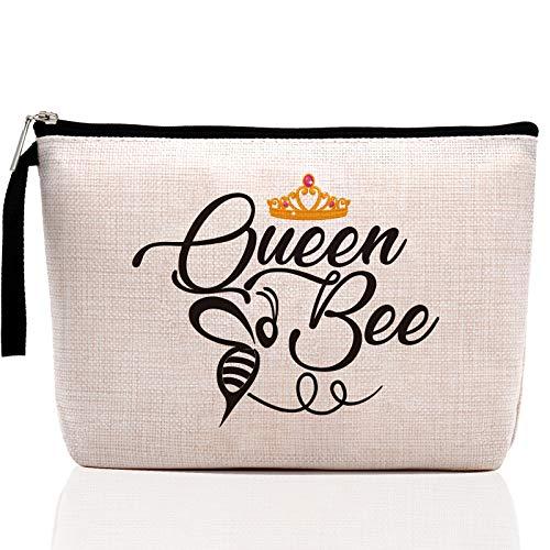 Queen Bee -Makeup Bag, Honeybee Pouch Case