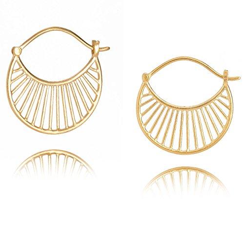 Pernille Corydon Daylight Damen Ohrringe Gold Creolen rund Silber vergoldet - E571g