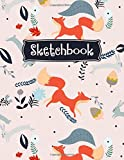 Sketchbook: Fox Sketchbook for Girls Boys, Fox Lover Gifts, Cute Red Foxes Sketching Journal / Blank Drawing Sketchpad, Kids Sketch Doodle Draw Paper, Extra Large XL108+ Pages