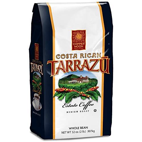 Copper Moon Costa Rican Tarrazu Estate Whole Bean Coffee, Medium Roast, 32 Ounce