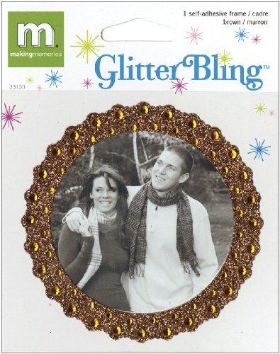 Making Memories Glitter Bling Round Frame, Brown by MAKING MEMORIES