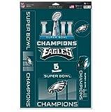 NFL Philadelphia Eagles Super Bowl LII Champions Decals, 11 x 17-inches
