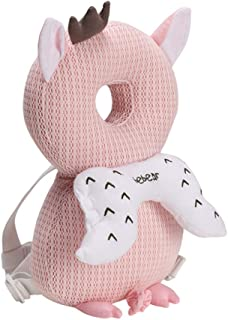 Bebamour Baby Toddlers Head Protective, Adjustable Infant Safety Pad for Baby Walkers Protective Head and Shoulder Protector (Light Pink)