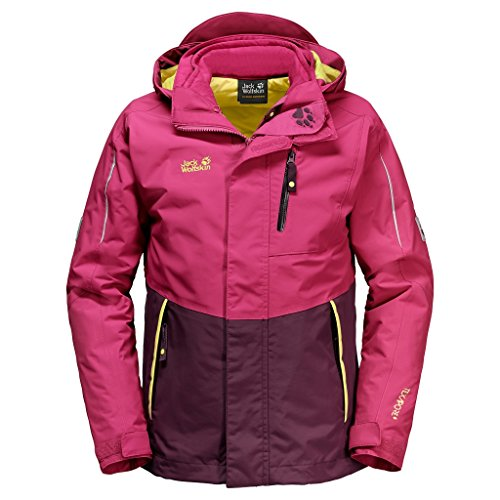 Jack Wolfskin 3 in 1 Jackets Crosswind 3In1 Kids azalea red 104