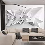 Sencillo y moderno, super fuerte, 3D, en blanco y negro, papel tapiz de origami, fondo de restaurante, paño de pared, sala de estar, mural, papel tapiz impermeable, papel tapiz400cm×280cm