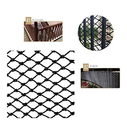 Best Buy! Black Nylon Rope Net, Family Balcony Sill Kindergarten Children Baby Anti-Fall Net, Clothi...