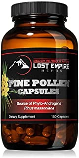 Pine Pollen Capsules - Non-Irradiated! - Nootropic Herb Packed with Amino Acids and Vitamin C - Great for Hair/Skin Care -...
