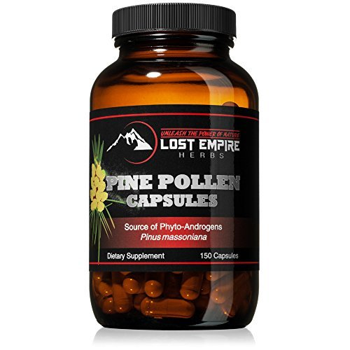 Pine Pollen Capsules - Non-Irradiated! - Nootropic Herb Packed with Amino Acids and Vitamin C - Great for Hair/Skin Care - Vegan, Paleo, and Keto Friendly, Gluten Free (150 Ct)