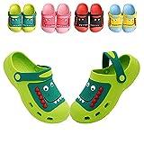 Sabot Enfant Garcon Filles Pantoufles Chaussures de Jardin Dinosaur Été Chaussons Légère Confortable Respirant Sandales de Plage Sabots et Mules Enfants Vert EU 36 (Taille de l'étiquette 230 mm)