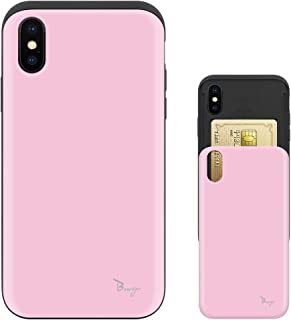 iPhone Xs ケース iPhone X ケース TPU バンパー Bumper 耐衝撃 カード入れ マット加工 ワイヤレス充電対応 スマホケース 擦り傷防止 保護フィルム Breeze 3DP 正規品 [IXJP213BN]