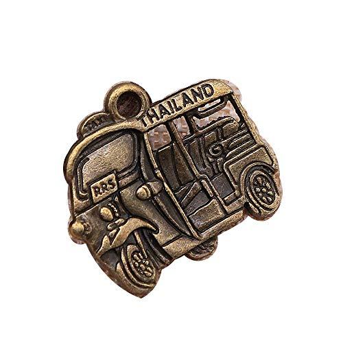 honggui 1111-Fashion Anhänger aus Legierung, Motiv: Motor, Dreirad, Thailand, Taxi, Auto, 27 x 31 mm, 10 Stück (antike Bronze)