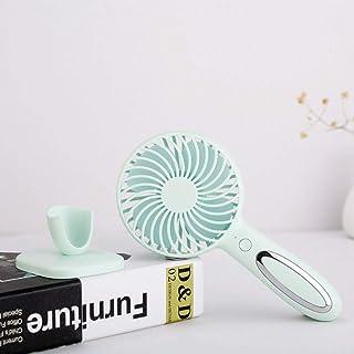 CJW Luz de Noche, pequeño Ventilador, Mini portátil de Mano, USB de Carga, Escritorio, Mini Ventilador, Oficina, Dormitori...
